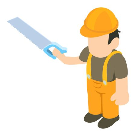 Carpenter icon. Isometric illustration of carpenter vector icon for web