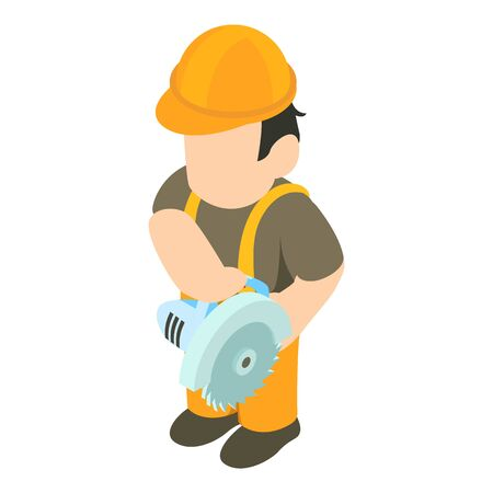 Foreman icon. Isometric illustration of foreman vector icon for web Çizim