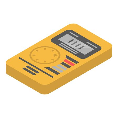 Digital multimeter icon. Isometric of digital multimeter vector icon for web design isolated on white background