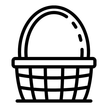 Traditional wicker icon. Outline traditional wicker vector icon for web design isolated on white background