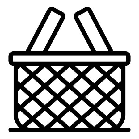 Empty wicker icon. Outline empty wicker vector icon for web design isolated on white background Vettoriali