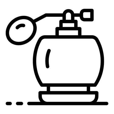 Retro perfume bottle icon, outline style