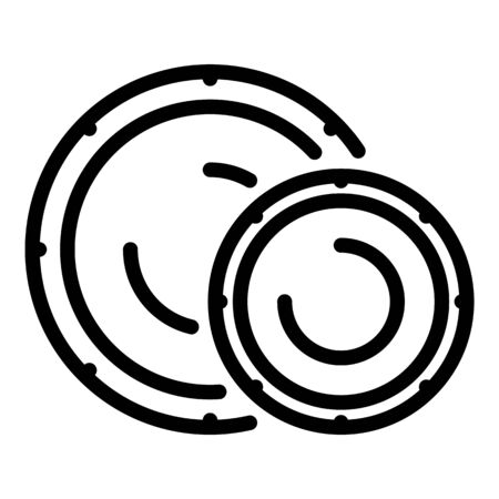 Disposable plates icon, outline style