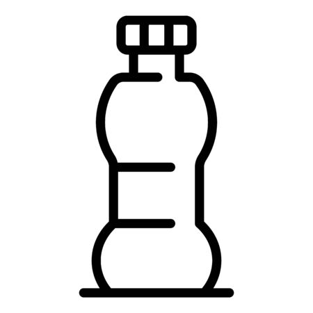 Plastic drink bottle icon, outline style