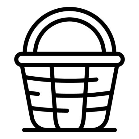 Style wicker icon, outline style  イラスト・ベクター素材