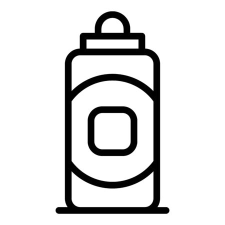 Baby bottle icon. Outline baby bottle vector icon for web design isolated on white background
