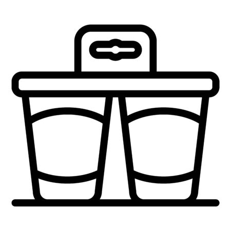 Plastic yogurt pack icon. Outline plastic yogurt pack vector icon for web design isolated on white background Stock Illustratie