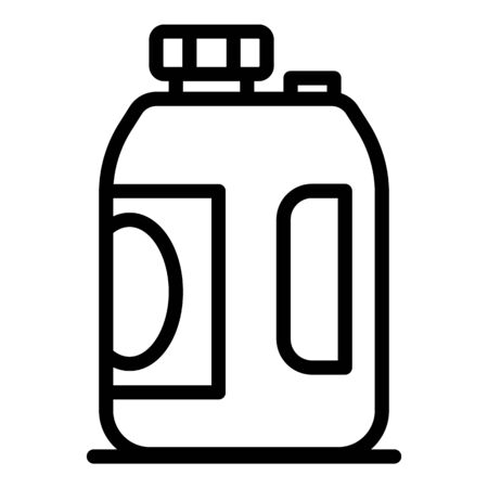 Plastic canister icon. Outline plastic canister vector icon for web design isolated on white background