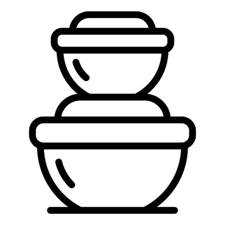 Modern food container icon. Outline modern food container vector icon for web design isolated on white background