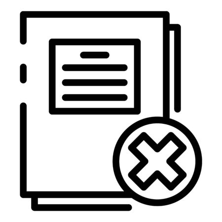 Bankrupt papers icon, outline style Illustration