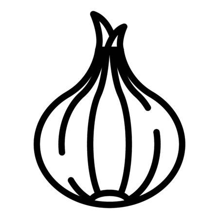 Farm onion icon. Outline farm onion vector icon for web design isolated on white background 일러스트