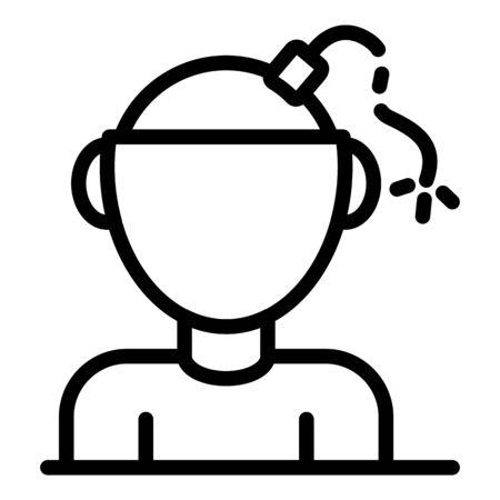 Icono de psicología bipolar. Esquema de la psicología bipolar icono vectoriales para diseño web aislado sobre fondo blanco.