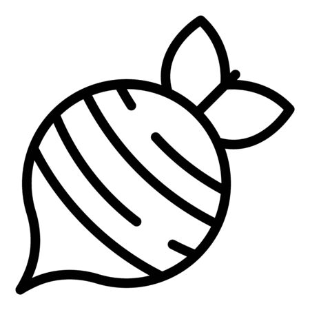 Garden beet icon. Outline garden beet vector icon for web design isolated on white background Stock fotó - 132136192