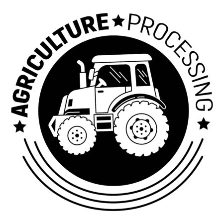 Agriculture processing icon, simple style