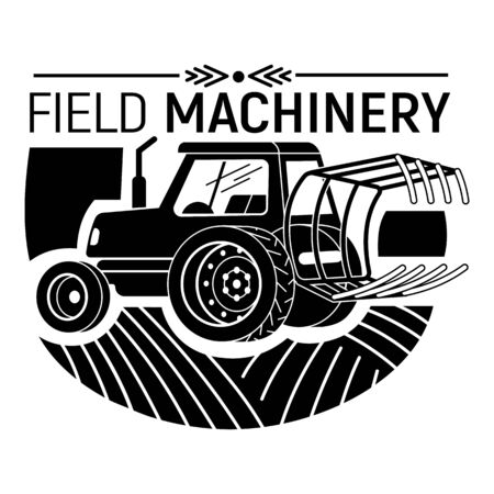 Field machinery icon, simple style Illusztráció