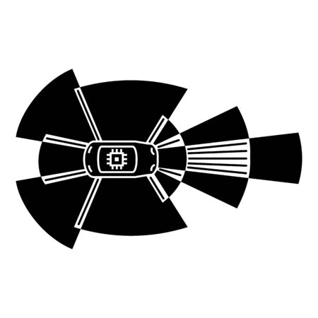 Driverless car sensor icon, simple style Banque d'images - 132559827
