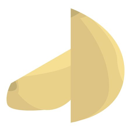 Farm garlic icon, isometric style