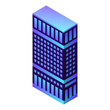City hotel building icon. Isometric of city hotel building vector icon for web design isolated on white background