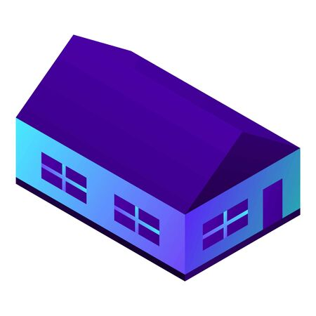 House icon. Isometric of house vector icon for web design isolated on white background Standard-Bild - 132559867