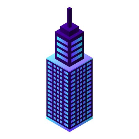 City sky tower icon. Isometric of city sky tower vector icon for web design isolated on white background