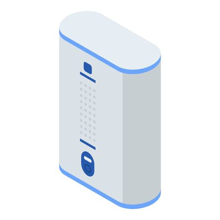 Air purifier icon. Isometric of air purifier vector icon for web design isolated on white background Фото со стока - 132599379