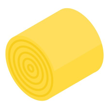 Wheat roll icon. Isometric of wheat roll vector icon for web design isolated on white background Illusztráció