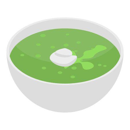 Celery soup icon, isometric style