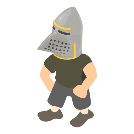 Medieval infantryman icon. Isometric illustration of medieval infantryman vector icon for web
