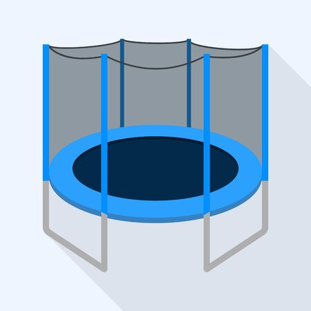 Protected trampoline icon, flat style