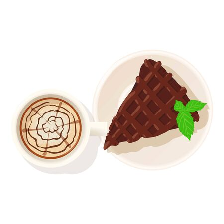 Chocolate pie icon, isometric style