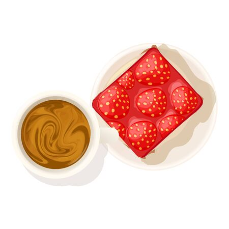 Strawberry cheesecake icon, isometric style