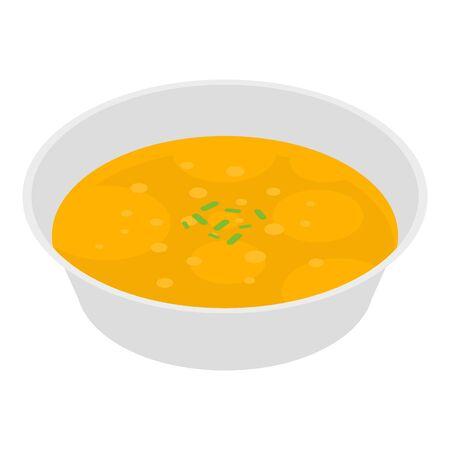 Peas soup icon, isometric style