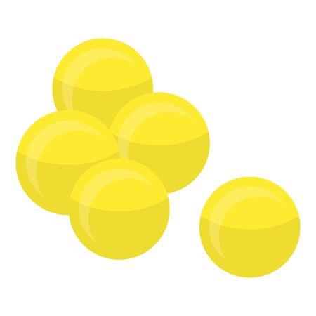 Yellow peas icon, isometric style