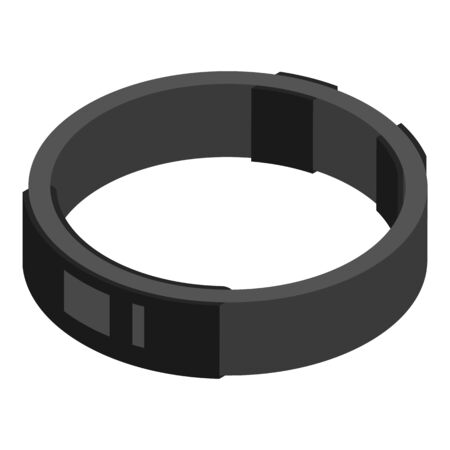Waterproof smart bracelet icon, isometric style