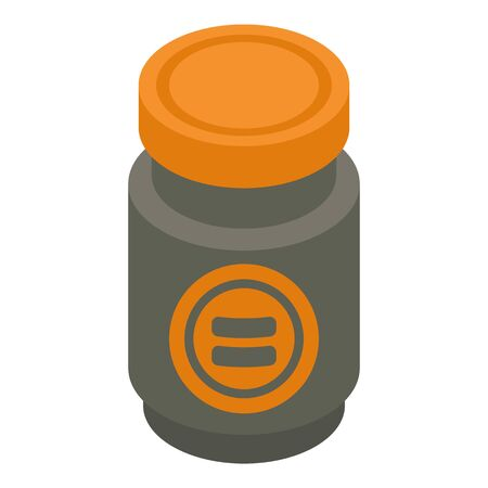 Pepper jar icon. Isometric of pepper jar vector icon for web design isolated on white background Ilustrace