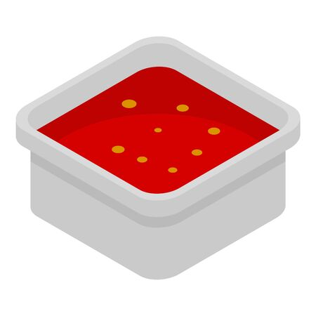 Red sauce icon. Isometric of red sauce vector icon for web design isolated on white background