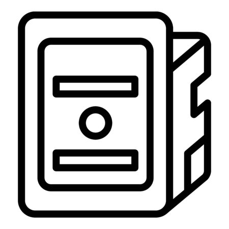 Print cartridge icon, outline style