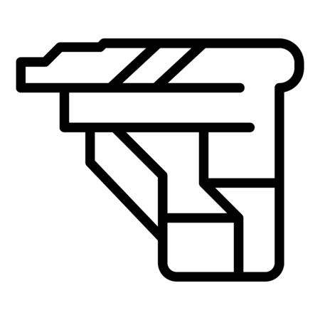 Cmyk cartridge icon, outline style