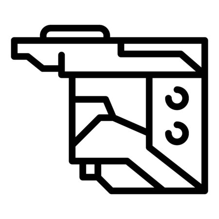 Modern cartridge icon, outline style Illustration