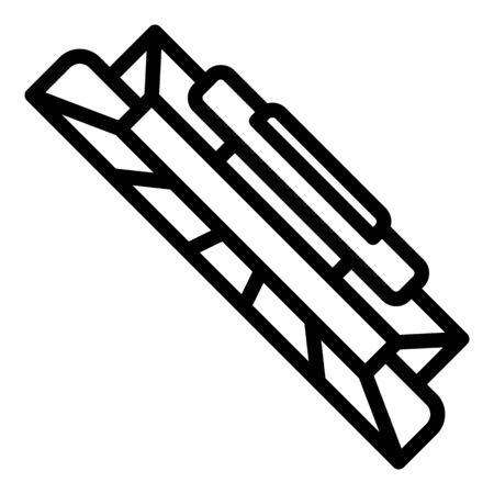 Cartridge icon, outline style