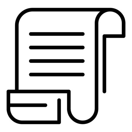 Payment receipt icon, outline style Stock Illustratie