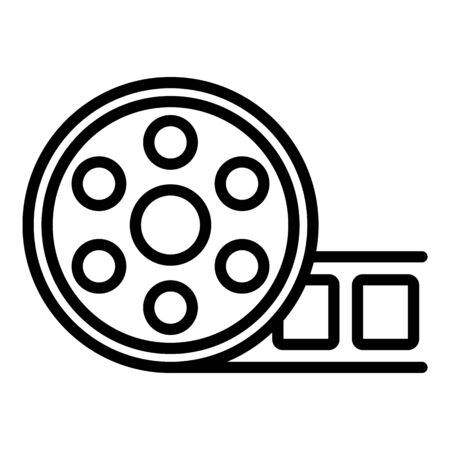 New cinema reel icon, outline style