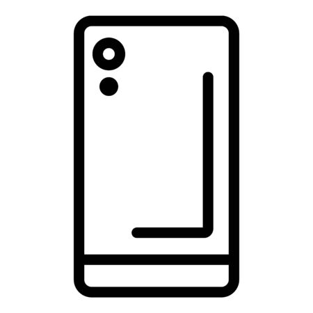 Mobile phone case icon, outline style