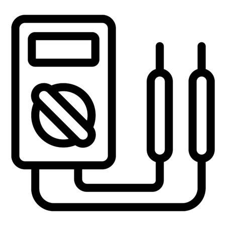 Multimeter icon, outline style Illusztráció