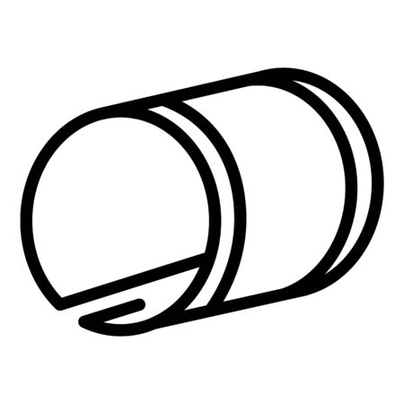 Modern flexible display icon, outline style Standard-Bild - 132935741