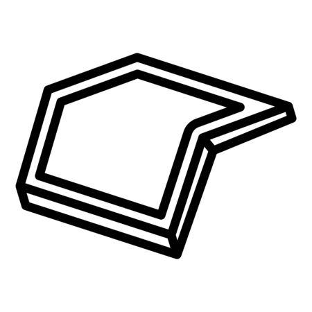 Smart foldable phone icon, outline style Standard-Bild - 132935560
