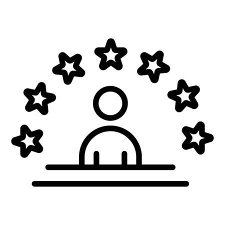 World star icon, outline style Banco de Imagens - 132935442