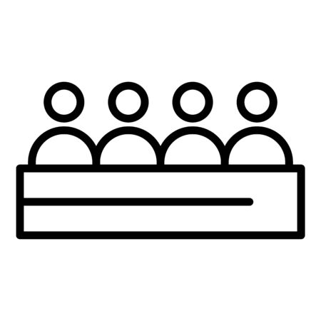 Press conference icon, outline style Illustration