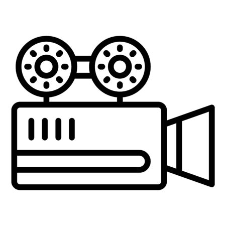Cinema camera icon, outline style Illustration