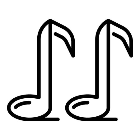 Music notes icon, outline style